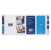 HP 80 - C4821A - Tête d'impression et dispositif de nettoyage - 1 x cyan