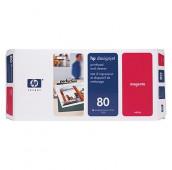 HP 80 - C4822A - Tête d'impression et dispositif de nettoyage - 1 x magenta