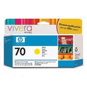HP 70 - C9454A - Cartouche d'encre - 1 x jaune - 130 ml