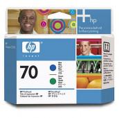 HP 70 - C9408A - Têtes d'impression - 1 x bleue et 1 x verte