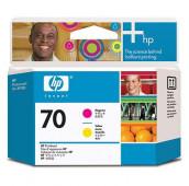 HP 70 - C9406A - Têtes d'impression - 1 x magenta et 1 x jaune