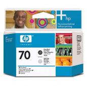 HP 70 - C9407A - Têtes d'impression - 1 x noir photo et 1 x gris clair