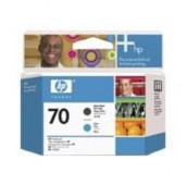 HP 70 - C9404A - Têtes d'impression - 1 x noir mat et 1 x cyan