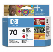 HP 70 - C9409A - Têtes d'impression - 1 x noir mat et 1 x rouge