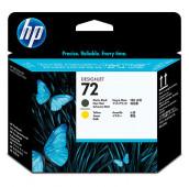 HP 72 - C9384A - Têtes d'impression - 1 x noir mat et 1 x jaune