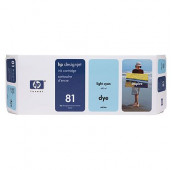 HP 81 - C4934A - Cartouche d'encre - 1 x cyan claire - 680 ml