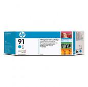 HP 91 - C9467A - Cartouche d'encre - 1 x cyan à pigments - 775 ml