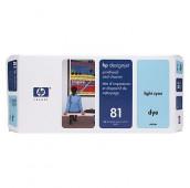 HP 81 - C4954A - Tête d'impression et dispositif de nettoyage - 1 x cyan claire