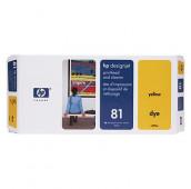 HP 81 - C4953A - Tête d'impression et dispositif de nettoyage - 1 x jaune