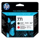 HP 771 - CE017A - Têtes d'impression - 1 x noir mat et 1 x rouge chromatique