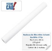 Rouleau de film rétro-éclairé/backlite 155µ - 91,4 cm x 30 m - 170 g/m²