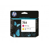 Tête d'impression DesignJet HP 744 magenta et jaune