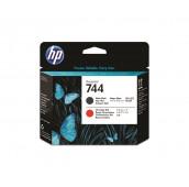 Tête d'impression DesignJet HP 744 noir mat et rouge chromatique