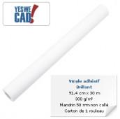 Rouleau de vinyle adhésif brillant - 91,4 cm x 30 m - 300 g/m²